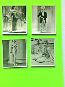 LOT of ARDATH/state express HOLLYWOOD stars  PIN-UP/CHEESECAKE 1938 cig cards (4