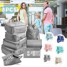 Embalagem Saco De Armazenamento 8Pcs Cubos bolsas De Viagem Bagagem Organizador Roupas ❤