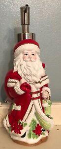 Holiday Resin Soap Lotion Dispenser Santa Envogue Christmas NEW