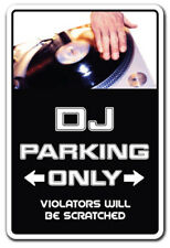 DJ Decal parking records turn tables mixer disc jockey music dance