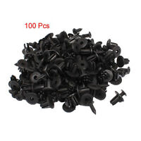 100 Pcs Plastique Rivets de fixations de type poussoir Clips d'aile 7mm Dia WT