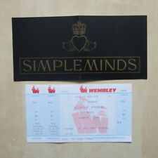 SIMPLE MINDS Unused 1989 Wembley Ticket and After Party Ticket RARE