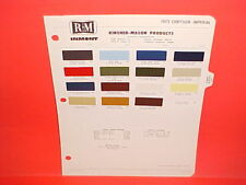 1972 CHRYSLER IMPERIAL NEW YORKER BROUGHAM NEWPORT TOWN&COUNTRY PAINT CHIPS 72