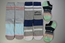 (3) Stance Women's Crew & Invisible Socks Sz Medium M, Harley Davidson