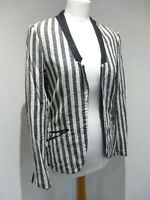 Maison Scotch La Femme Salon Marie striped fitted blazer jacket Size 3 12 VGC