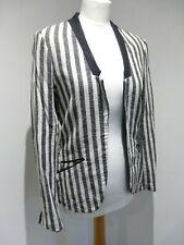 Maison Scotch La Femme Salon Marie striped fitted blazer jacket Size 3 12 VGC