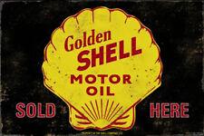 Golden Shell Motor Oil Metal Sign