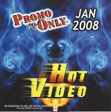 PROMO ONLY- New, DVD HOT VIDEO JAN.-2008-Britney Spears,Santana,Backstreet Boys