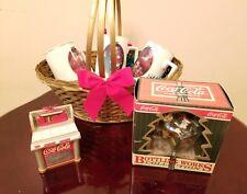 Cool Lot Of Coca Cola Assortment Cups & Ornaments Christmas Gift Rare !!