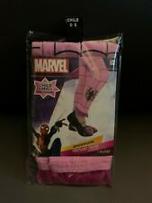 New Marvel Spider-Girl Footless Tights Child Size Small