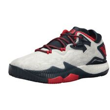 f9afd415ed24 Mens adidas Crazylight Boost Low 2016 James Harden White Navy Basketball  Shoes 11