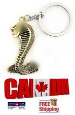Gold Cobra Snake Key Ring Key Chain Key Fob Keychain for Mustang Shelby GT500