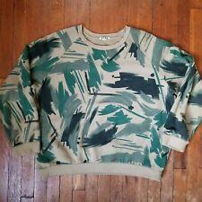 Acne Brian Print Camo Sweatshirt - Size L - FW 2013