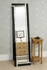 Large Modern Design Double Black Edge Free Standing Cheval Mirror 5Ft X 1Ft3