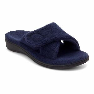 Vionic Relax - Orthaheel Orthotic Slippers Navy - 8 Medium-wide