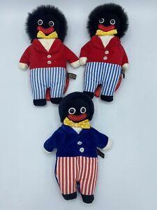 3pc Vintage Velveteen Bean Bear Co Dolls Britain