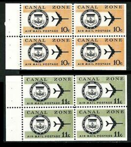 PANAMA – US. CANAL Zone 1970/71: Wappen, Flugzeug, Heftchenbl. ** pfr. (Z829)