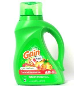 1 Ct Gain 50 Oz Aroma Boost Febreze Freshness Hawaiian Aloha 32 Loads Detergent