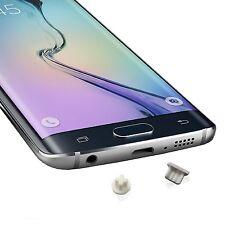 Staub Wasser Schutz Stöpsel (4X) - Samsung GALAXY S6 edge - 4X Weiß