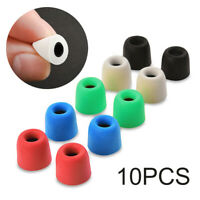 10pcs Memory Foam Tips Noise Cancellation in-ear Earbud Replacement Medium bs