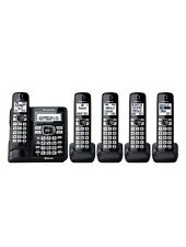Panasonic KX-TG785SK DECT 6.0 5 Handset Cordless Phone System (NEW)