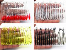 40 un. Suave Silicona Pesca Señuelos Hecho a Mano Shad Jig gusanos Wobbler Pesca 4 Colores