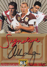 1996 DYNAMIC SIGNATURE GOLD PROMOTIONAL CARD PERSONALLY SIGNED ALLAN LANGER