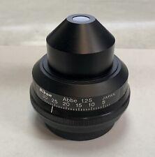 Nikon Bright Field Microscope Condenser Abbe 1.25 For Labophot Optiphot