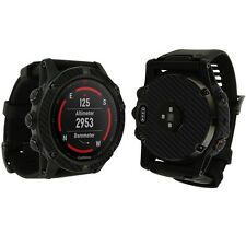 Skinomi Black Carbon Fiber Skin+Clear Watch Screen Protector for Garmin Fenix 5x