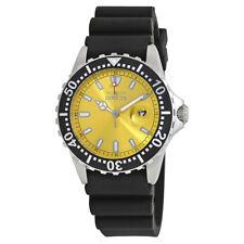 Invicta Pro Diver Yellow Dial Black Rubber Mens Watch 10918