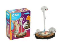 NEW CAT PLAYING SET TOYS RAT KITTEN SPRING FIT CAT FUN PAY TIME MOUSE RAT PET