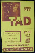 TAD Kennewick Auditorium WASHINGTON 1992 Concert POSTER Nirvana GRUNGE Madness!