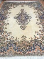 9' x 12' Indian Floral Oriental Rug - 1950s - Hand Made - 100% Wool