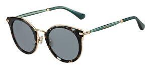 Jimmy Choo RAFFY/S 01M5-24 Havana Green/ Light Grey Lens Sunglasses New