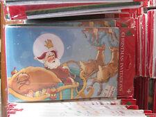 Christmas Wholesale PARTY INVITATIONS 8 Packs of 7 SANTA & REINDEER 56 Total