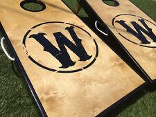 Real Birch Custom Wood Brand Theme Cornhole Board Set