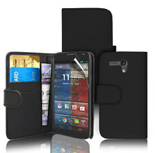 NERA Wallet Flip Case Cover per Motorola Moto X & Screen Protector