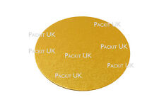 2 x 10 Inch Round Gold Cake Board Card 3mm DOUBLE THICK