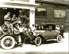Vintage Tow Truck Towing 1925 Chevrolet Auto Towing Garage Repair Crew MUST SEE