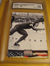 ERIC HEIDEN SPEED SKATING 2012 PANINI AMERICANA  # 86 GRADED 10   L@@@K