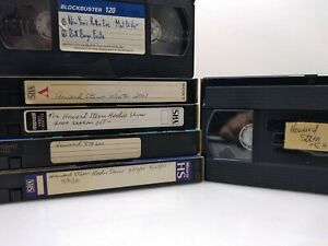 Sold as blank VHS 📼 Lot of 6 tapes Stern