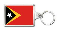 EAST TIMOR FLAG KEYRING SOUVENIR LLAVERO