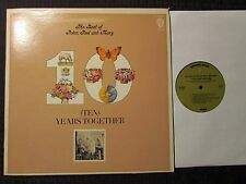 1970 The Best Of Peter Paul And Mary Ten Years Together LP GF VG/VG+ Warner Bros