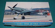 Messerschmitt Bf109E-3 Swiss Air Force Hasegawa 1/48 Complete & Unstarted.