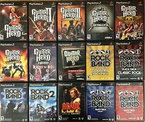 Guitar Hero / Rock Band (PlayStation 2) PS2 TESTED