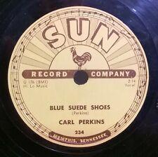 "CARL PERKINS Blue Suede Shoes / Honey Don't SUN 234 78RPM shellac 10"" LOOK ->"