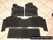 "Lexus LX570 (2016-2018) Genuine OEM ALL WEATHER FLOOR ""LINER"" MATS 4pc (Black)"