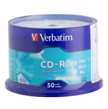 Verbatim CD-R 50 Pack Spindle 52x 700MB Blank CDs Media Disks