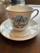 Disneyland Teacup & Saucer Castle Scene Walt Disney Productions Japan