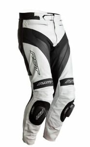 RST 2358 Tractech Evo 4 CE Leather Motorcycle Motorbike Jean - White/Black